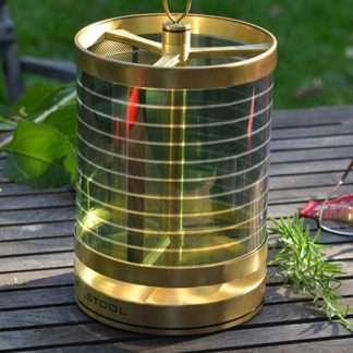 .STOOL Solar Light Brass