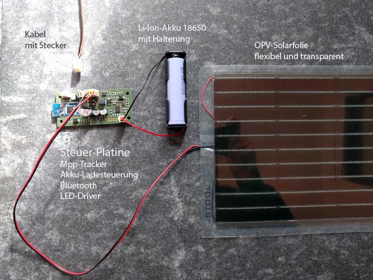 .STOOL Starter Set, organische Photovoltaik, Ladesteuerung, Akku