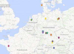 Karte unser Händler in der EU