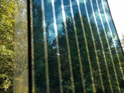 Organische Photovoltaik transparent am Fenster
