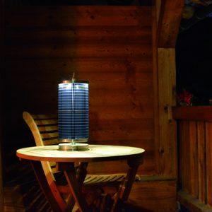 Solar-Tischlampe Edelstahl @Balkon